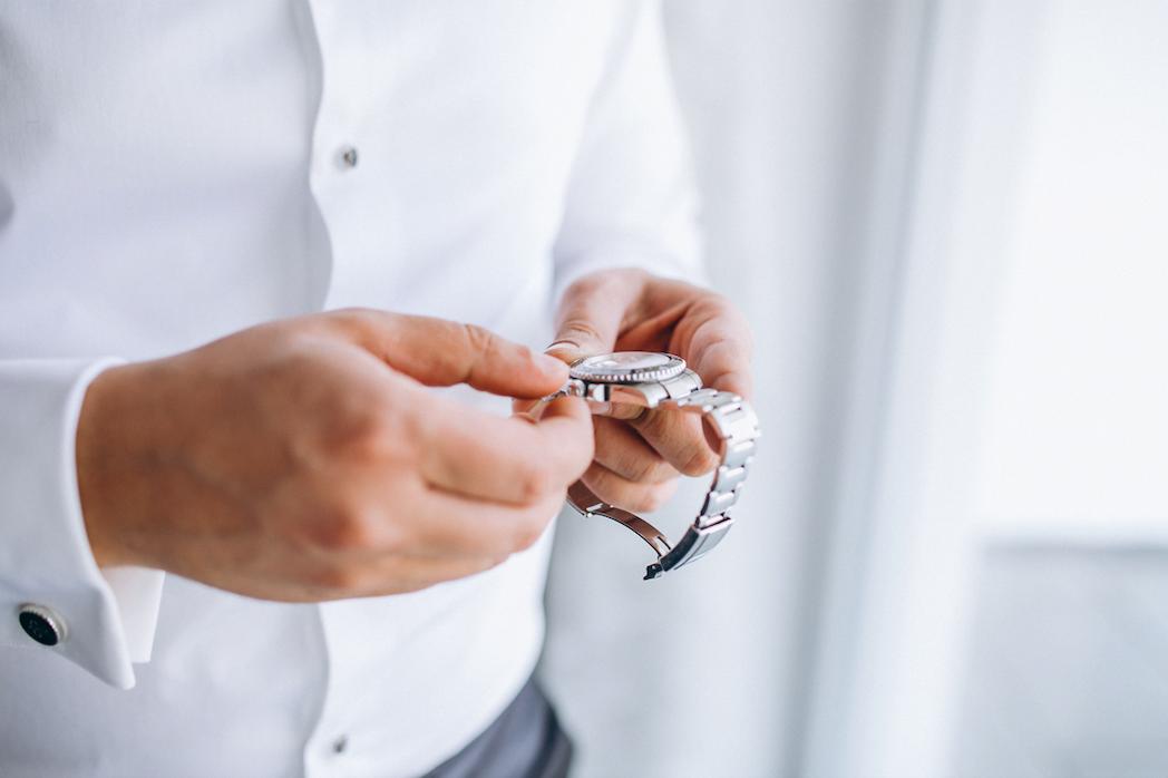 手巻き-腕時計
